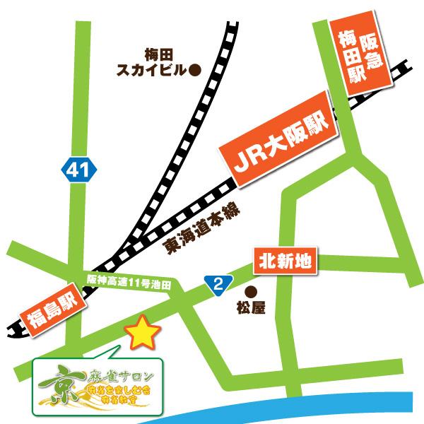 麻雀サロン京 地図
